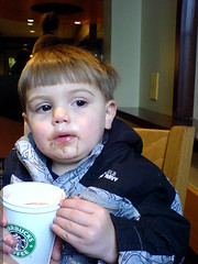 talking shop over a cup of hot chocolate at starbuck…