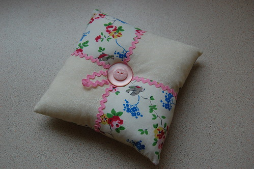 Patchwork Pincushion using Cath Kidston Fabric