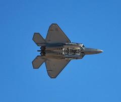 sukhoi su-35bm(0.0), general dynamics f-16 fighting falcon(0.0), lockheed martin f-35 lightning ii(0.0), lockheed martin f-22 raptor(1.0), aviation(1.0), airplane(1.0), wing(1.0), vehicle(1.0), fighter aircraft(1.0), jet aircraft(1.0), flight(1.0), air force(1.0),