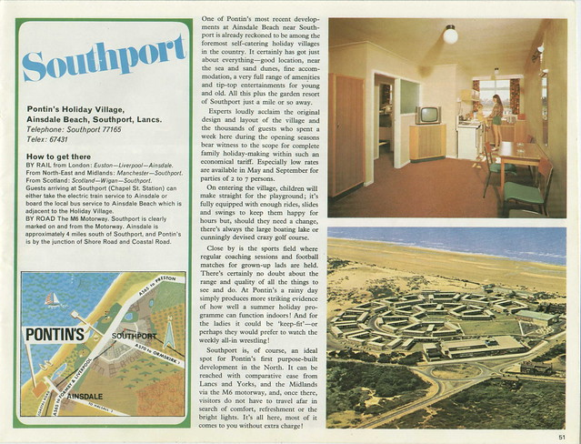 Pontins Brochure 1972 - Southport