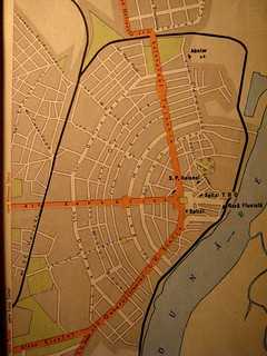 The map of Braila city in 1960