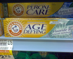 """Yes, that is """"Age Defying"""" toothpaste"""