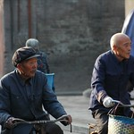 Old Chinese Friends on Bikes - Pingyao, China