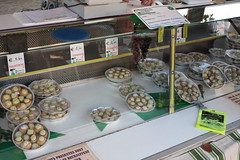 Escargot at a market stall