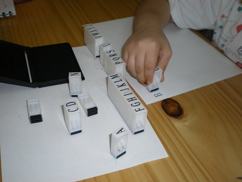 spelling with stamps