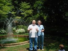 Ron & Lorna at Biedenharn Garden
