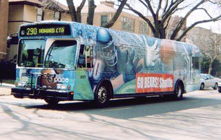 Pace Chicago Bears wrapped advertising bus. Chicago Illinois. April 2007. by Eddie from Chicago