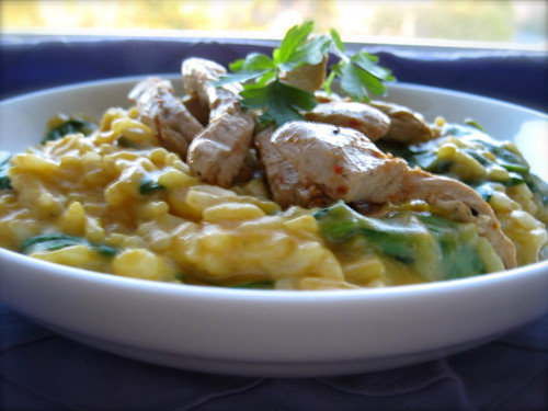 Pumpkin-Spinach Risotto