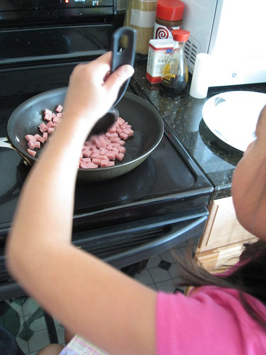 Cooking the Spam.. | by mama stony