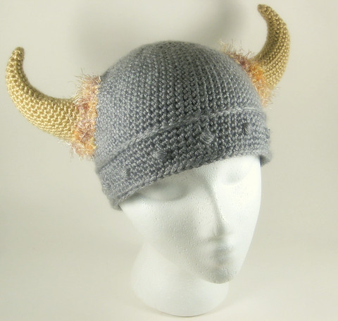 Viking Hat Knitting Pattern Free : VIKING HAT WITH BEARD KNITTING PATTERN   KNITTING PATTERN