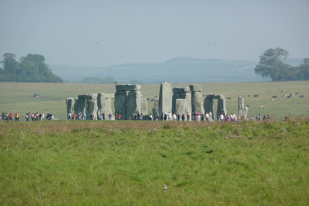 "Stonehenge from Normanton Down This spectacular view of Stonehenge is the highlight of the walk from Salisbury to Stonehenge, as described in the www.walkingclub.org.uk/book_3/walk_67/index.shtml"" rel=""nofollow Saturday Walkers Club Walk 67 and ""Rough Guide to Walks in London and Southeast England"". A lovely walk, passing Old Sarum, and along the crystal clear River Avon. You get to see Stonehenge from a distance, so much nicer than the tourist scrum closer in."