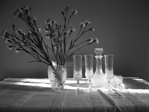 Crystal Vase and Glasses