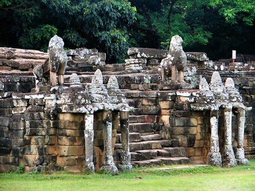 the elephant terrace at angkor thom