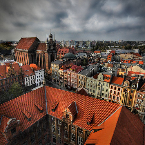 St. Marks from Town Center tower, Torun, Poland