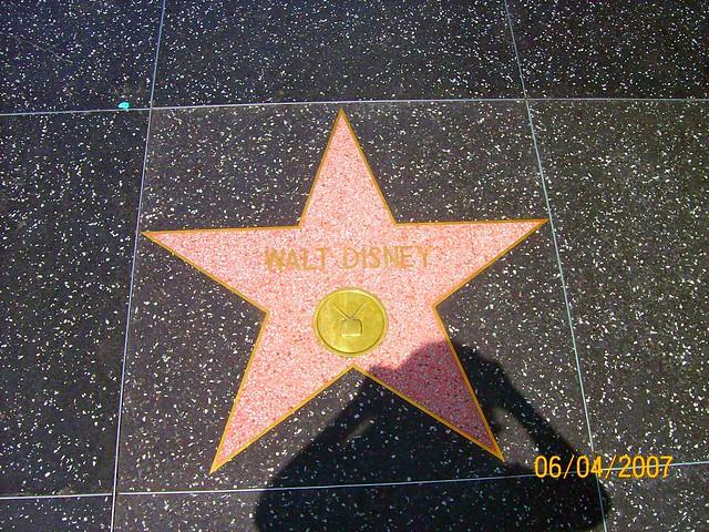 walt disney s star on hollywood walk of fame flickr