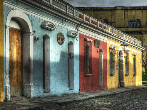 Colourful Shops  A row of colourful shops in Antigua, Guatemala (Source: DaveWilsonPhotography)