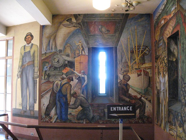 Coit tower wpa mural explore gary soup 39 s photos on for Coit tower mural artists