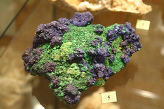 Specimen in the mineral museum at Wolframines