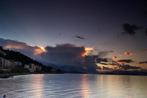 sunset southamerica argentina geotagged bariloche geo:lon=713 geo:lat=4115
