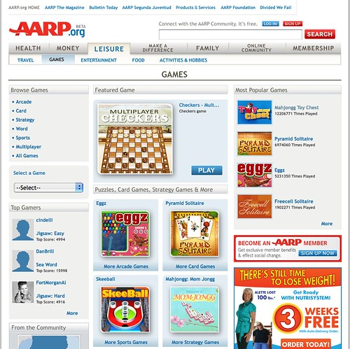 Aarp Games Toy Chest : Grandma got game aarp launches casual portal for
