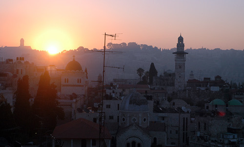 Dawn Over Jerusalem, Israel