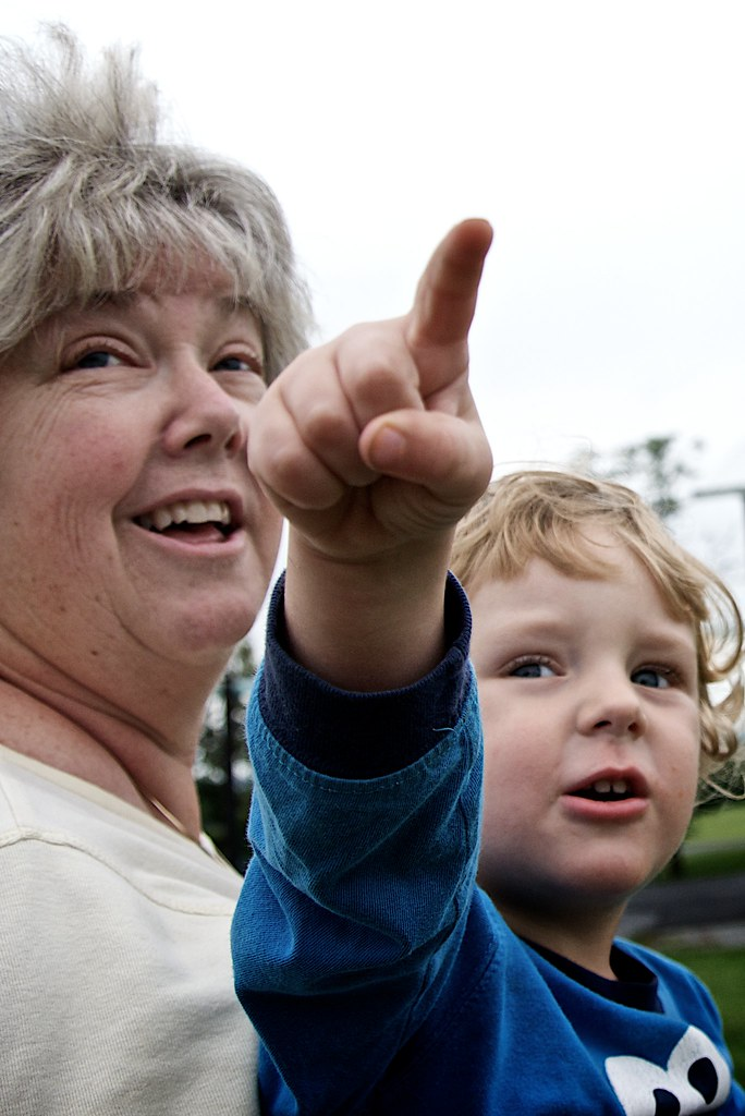 Mom and Lorenz Pointing