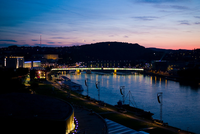 Blue Danive in Linz by Flickr CC Joi Ito