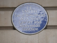 Photo of Frederick Edwin Smith blue plaque