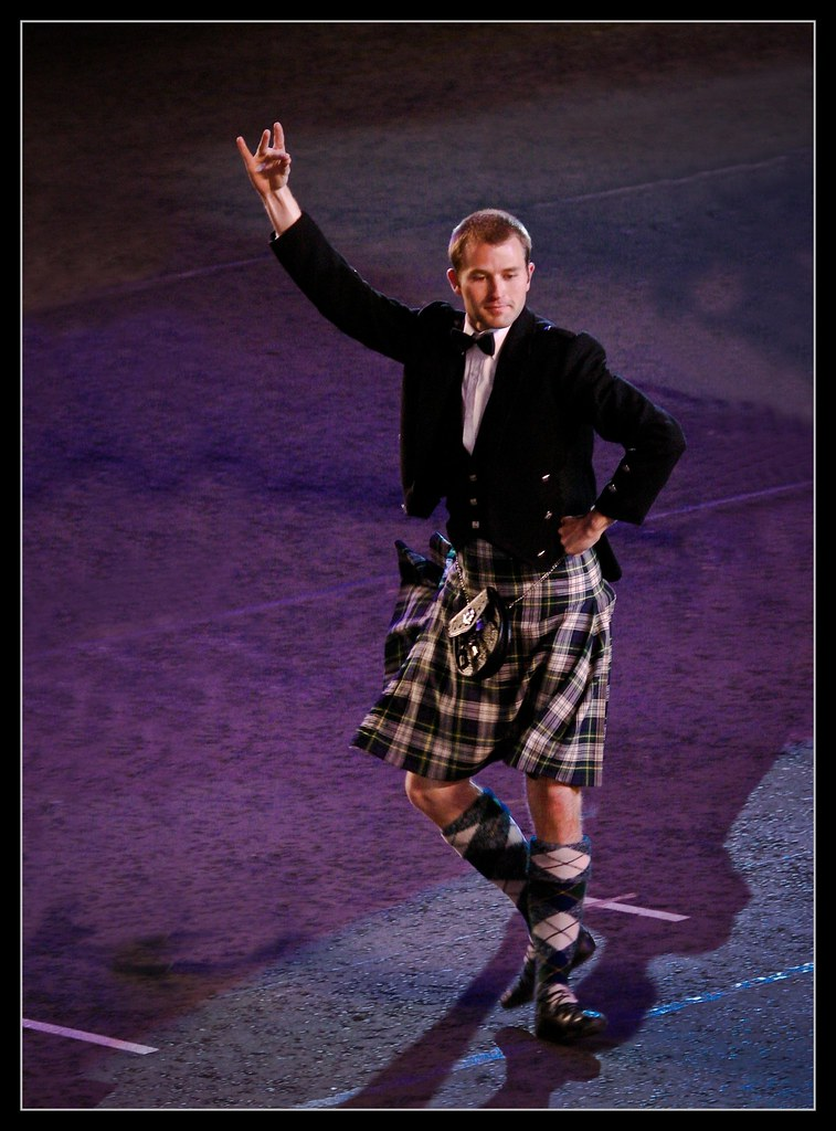 Can men in kilts with tattoos