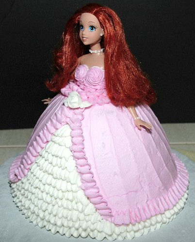 Princess Ariel Cake Didnot like the cake shop dolls so ...