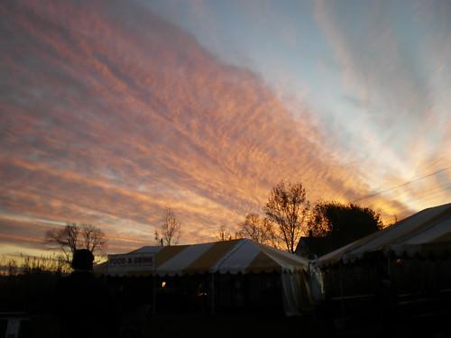sunset sky clouds corn pretty maze sterling davis