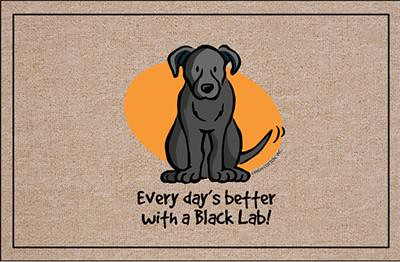 Better With A Black Lab Funny Doormat A Photo On