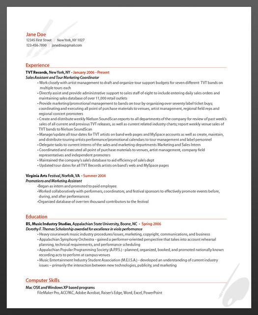 Resumebear Online Resume Artist Resume Sample Flickr