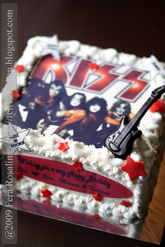 Kiss Rock Band S Birthday Cake Theme Flickr Photo