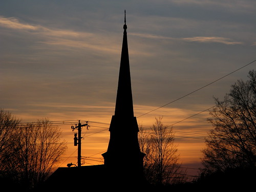 sunset silhouette vermont sundown steeple vt randolphcenter canong9