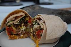 beef breakfast burrito