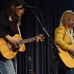 The Indigo Girls on stage at a WFUV Marquee member event
