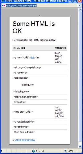 Flickr HTML Codes