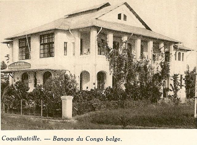 Coquilhatstad banque du congo belge 1930 flickr photo sharing - Koloniale stijl kantoor ...