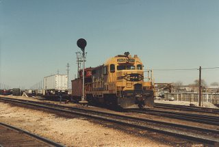 Atchinson, Topeka & Santa Fe hump yard switching. Corwith Yard. Chicago Illinois. April 1984. by Eddie from Chicago
