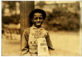 Lewis Hine: Roland, newsboy, Newark, New Jersey, 1924