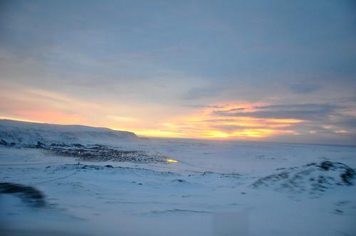 sunrise iceland greenhouse hveragerði