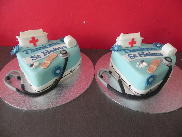 Cake Decorating Nurses Theme : Doctor and nurse hospital theme cakes Flickr - Photo ...