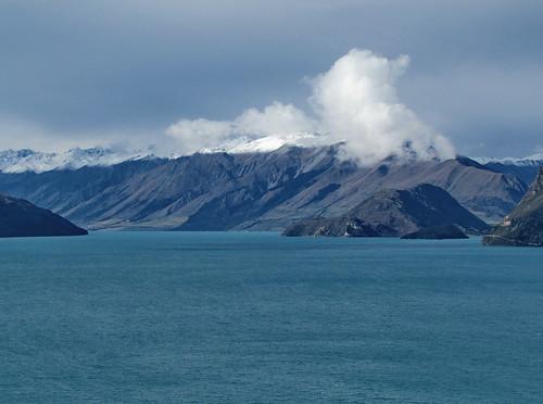 newzealand mountain lake jones arnold peak mount southisland southernalps hawea