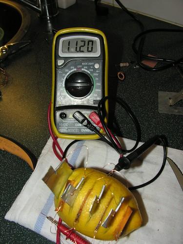 Multi-cell lemon battery