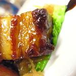 Sweet & Sour Pork Belly w/ pickled ginger