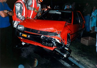 One of the other Victims - Mitsubishi Mirage