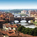 The bridges in Florence, Italy