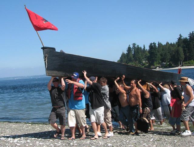 Suquamish Canoe landing | Flickr - Photo Sharing! Canoe