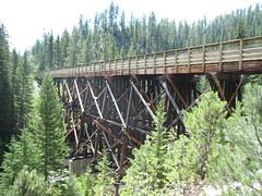 trestle, truss bridge, bridge,